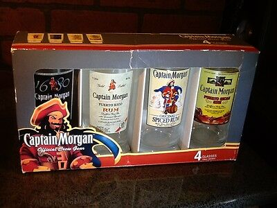 4 Captain Morgan Official Crew Gear 15oz GLASSES New NIB