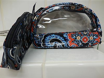 Vera Bradley Clear Cosmetic Duo In MARRAKESH Free Shipping NEW