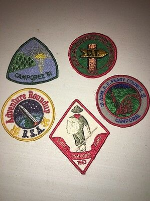 Boy Scouts Of America Lot Of 5 1960's Patches Vintage