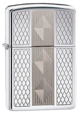 Zippo Windproof Lighter With Geometrical Pattern, Diamond Grill 29424 New In Box
