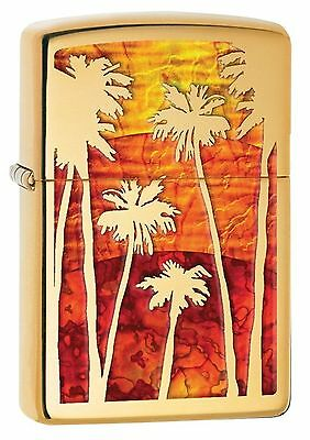 Zippo Windproof Lighter With Fusion Palm Trees at Sunset, 29420, New In Box