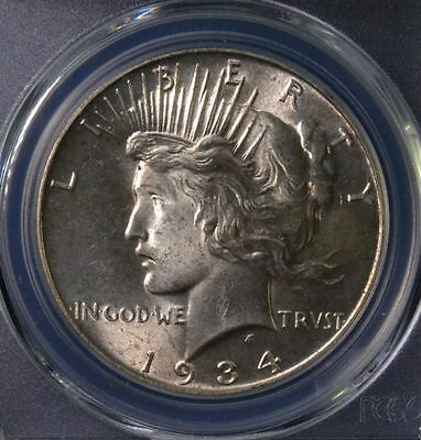 1934 $1 Peace Dollar Uncirculated PCGS MS 62 26541085