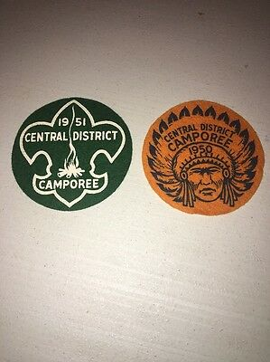 Boy Scouts Of America Lot Of 4 1950's Felt Patches Vintage