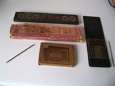 Two Vintage Mechanical Adding Machines, Ve-Po-Ad and Addometer