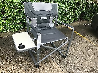 New - 2 x Rhino Directors compact fishing stool, camping chair with side table