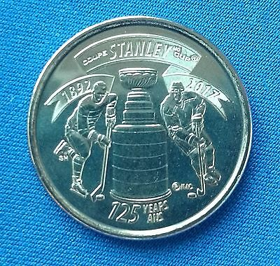 2017 Canada 25 Cents Quarter 125th Anniversary Stanley Cup Coin UNC -  On Hand!