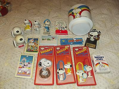 Vintage Snoopy Peanuts Gang Collectibes Mixed Lot of 16 items