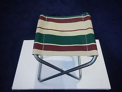 New - 2 x Hoop Leg Steel & Canvas compact fishing stool, camping chair