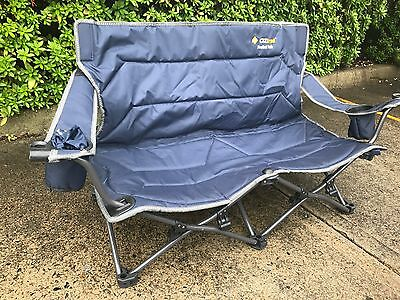 New - Oz Trail Festival twin compact fishing, double 2 person camping chair