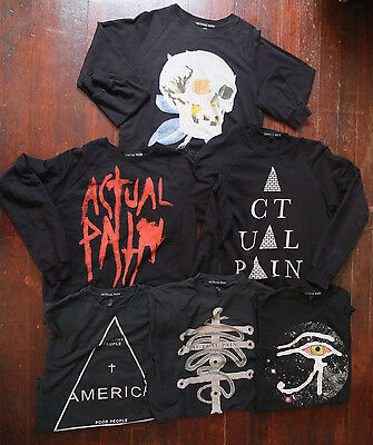 Actual Pain Seattle Lot of 6 Very Rare Crew Sweaters & T-Shirts Men's sz M