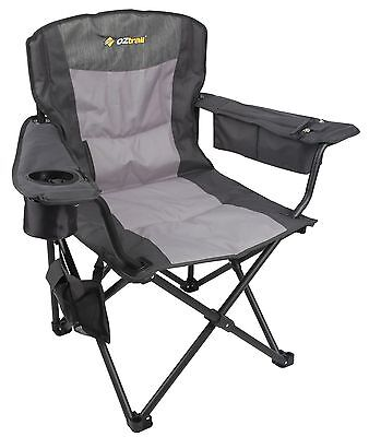 New 2 x Oz Trail thermal 12v DC HEATED camping chairs FCH-BBT-A