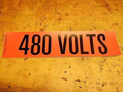 480Volts v  Sticker warning voltage safety decal osha