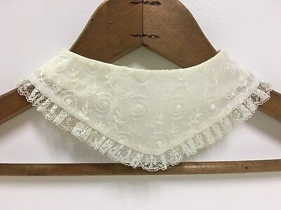 Vintage Lace Trim Collar | Ivory | Baby | Doll | Christening Gown