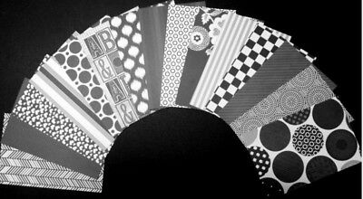 Black & White Papers *BLACK JACK* Scrapbooking/Cardmaking  - 15cm x 10cm (6 x 4)