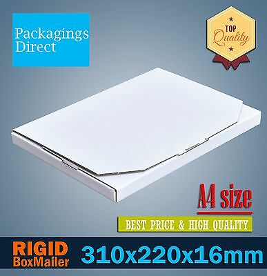 100 Mailing Box 310x220x16mm A4 Rigid Box Falt Mailer #04 Large Letter Envelope