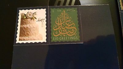Lot Of 2 New Assorted Usps Forever Stamp Magnets 2013