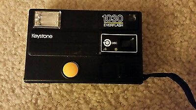 Vintage Collectible Keystone 1030 EVERFLASH Disc Camera Made in USA Black Tested