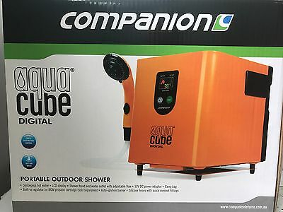 New Companion Aquacube digital 12v hot & cold camping shower