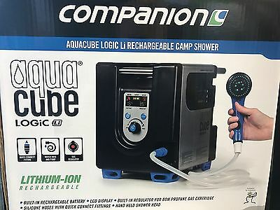 New Companion AquaCube Logic lithium ion rechargeable hot shower