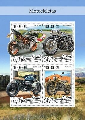 Z08 IMPERFORATED MOZ16314a MOZAMBIQUE 2016 Motorcycles MNH