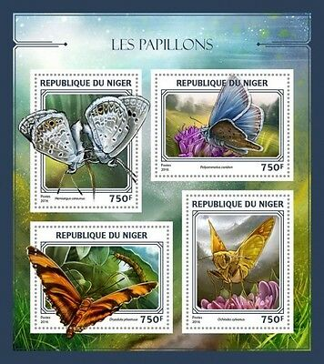 Z08 IMPERFORATED NIG16404a NIGER 2016 Butterflies MNH