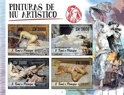 Z08 IMPERFORATED ST16506a Sao Tome and Principe 2016 Nude paintings MNH