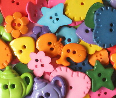 Novelty Buttons Pack No 1 - 2 Pack Options Available - Scrapbooking & Craft