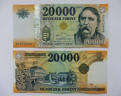 Hungary 2016 20000 Forint banknote - UNC NEW!