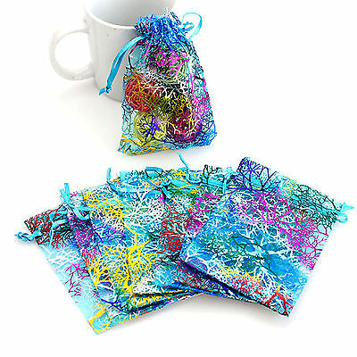H 20X Organza Gift Bags Jewellery Christmas Packing Pouches Wedding Party Favour