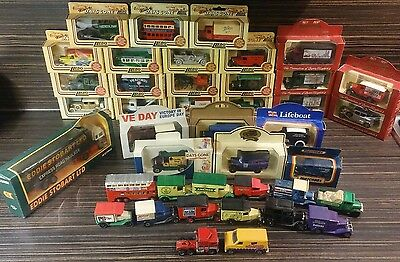 Collection of Lledo Days Gone and Matchbox model cars. 41 vehicles in total.