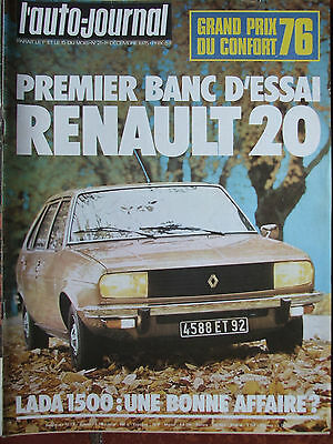 L'AUTO JOURNAL N°21 (1er déc 1975) Renault 20 - Lada 1500 - Lancia Beta -