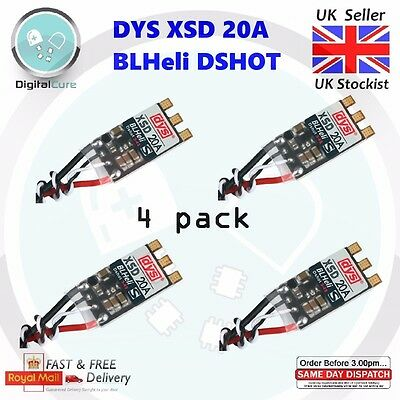 DYS XSD 20A 3-4S ESC BLHeli_S Supports Dshot600 Dshot300 - Racing Little Bee F3