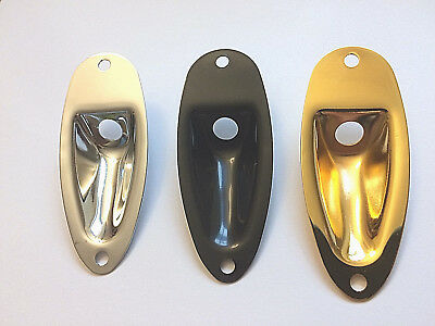Jack Plate For Strat, Stratocaster Style guitars Choice of Chrome,Black or Gold