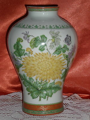 Vase En Porcelaine Haviland Limoges Decor Chrysantheme
