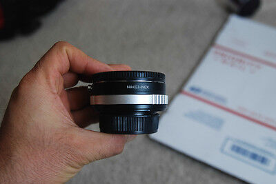 Nikon F/G Lens Focal Reducer speed booster turbo adapter to Sony NEX 3 5 5N 6 7