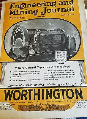 October 25 1919  Engineering and Mining Journal   Mining Equipment Advertising