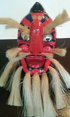 Japanese Tengu Theatre Mask with Hair