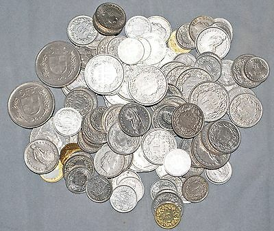 Lot of 100.85 Swiss Francs Spending Money Face Value 5-2-1 Franc coins and more!
