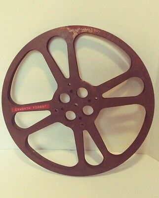 VINTAGE 16mm Metal Empty Film Reel GOLDBERG BROS -Epworth Forest
