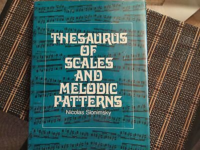 musical instruments gear Thesaurus of Melodic Patterns and Scales - Slonimsky