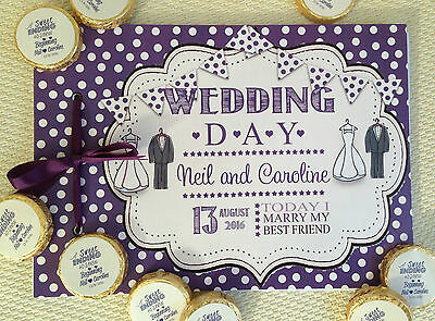 Personalised Guest Book,memory Album Wedding, Wedding Couple Avail In Any Colour