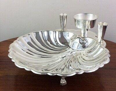 Fabulous Shrimp Cocktail Serving Dish, Claw Feet, Sheffield Silver Co