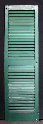 "16""x55"" Antique Vintage Wood Wooden Window Shutter Cabinet Pantry Louver Door"