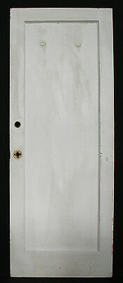 "30""x78"" Antique Arts Crafts Interior Solid Wood Door Single Recessed Flat Panel"