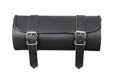 Leather Motorcycle motorbike Scooter  tool roll bag saddle bag  universal fit