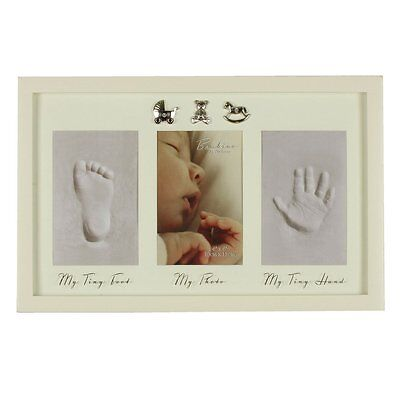 Bambino Baby Hand and Foot Print Plaster Cast Kit Photo Frame