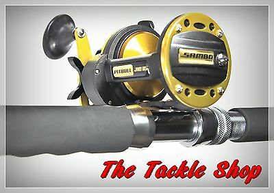 5ft Roller Jigging Combo - Latitude DS155-24 50lb Rod + Sambo PB15 Pitbull Reel