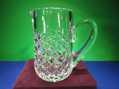 "Rare Waterford ""Alana"" Handmade Crystal Glass Small Pitcher"