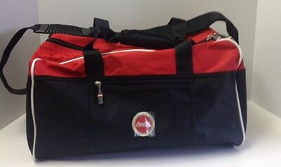 Gym Duffle Bag Coca Cola Advertising Memorabilia Red White Black
