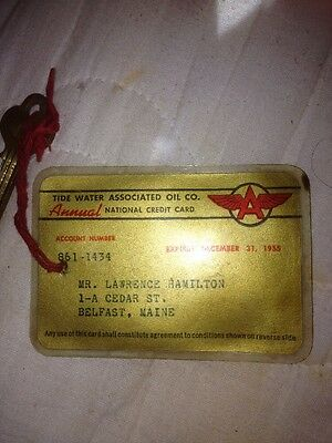 Tidewater Associated Oil Company Flying A Credit Card And Key